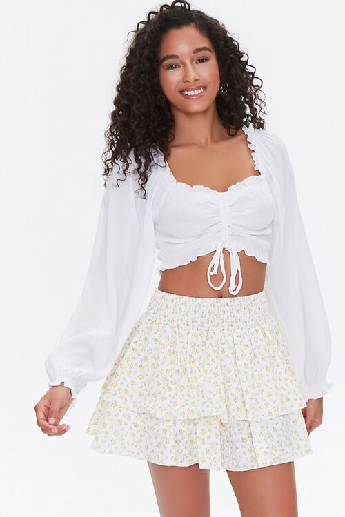 Floral Mini Skirt, image 1