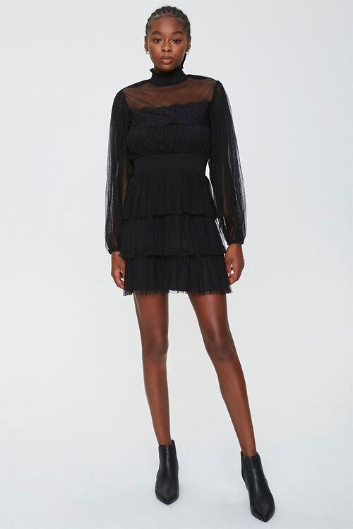 Tiered Mesh Mini Dress, image 4