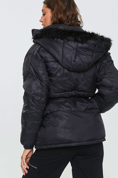 Faux Fur-Trim Puffer Jacket, image 3