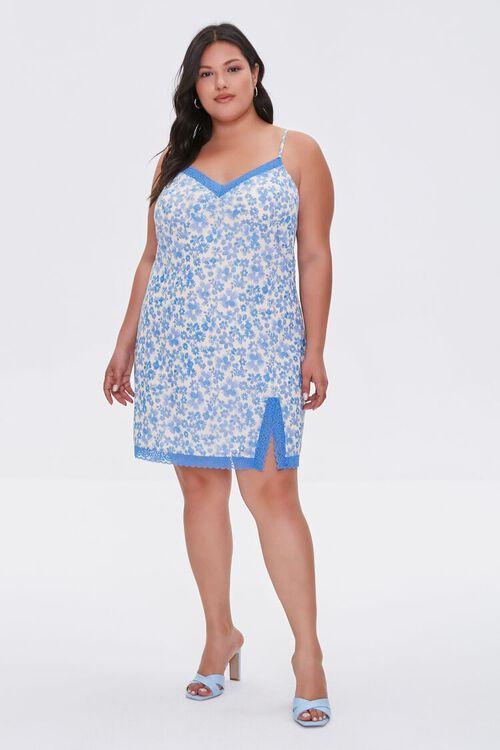 Plus Size Floral Mini Cami Dress, image 4