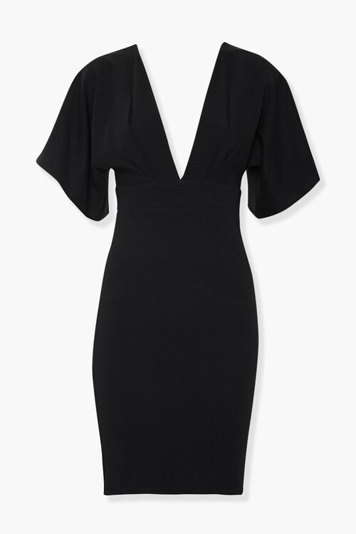Plunging Bodycon Dress, image 1