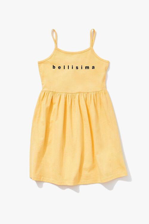 YELLOW/MULTI Girls Bellissima Graphic Dress (Kids), image 1