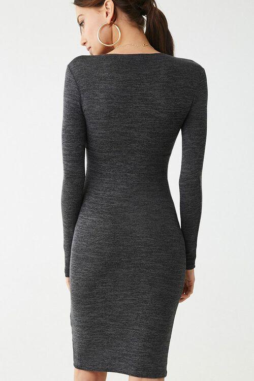 Marled Long Sleeve Mini Dress, image 4