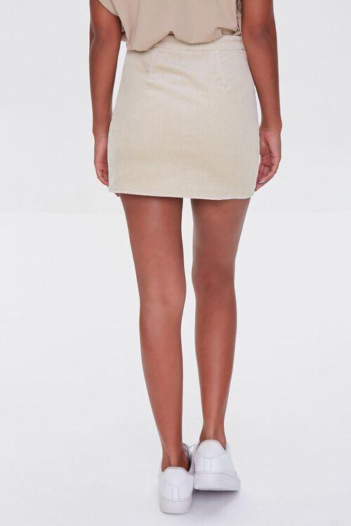 Corduroy Zip-Front Mini Skirt, image 4