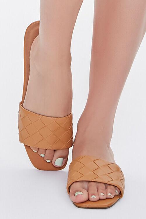 Basketwoven Square-Toe Sandals, image 4