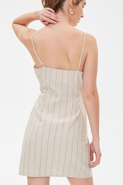 Striped Linen Cami Dress, image 3
