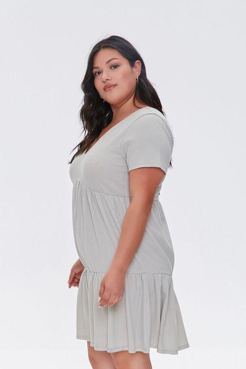Plus Size Tiered Tie-Back Mini Dress, image 2