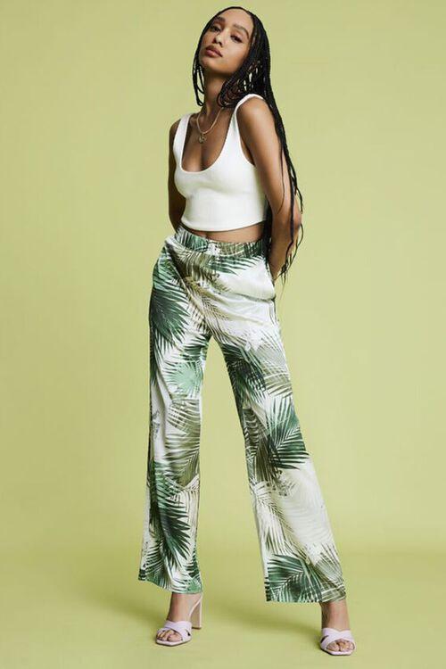 Tropical Print Wide-Leg Pants, image 1