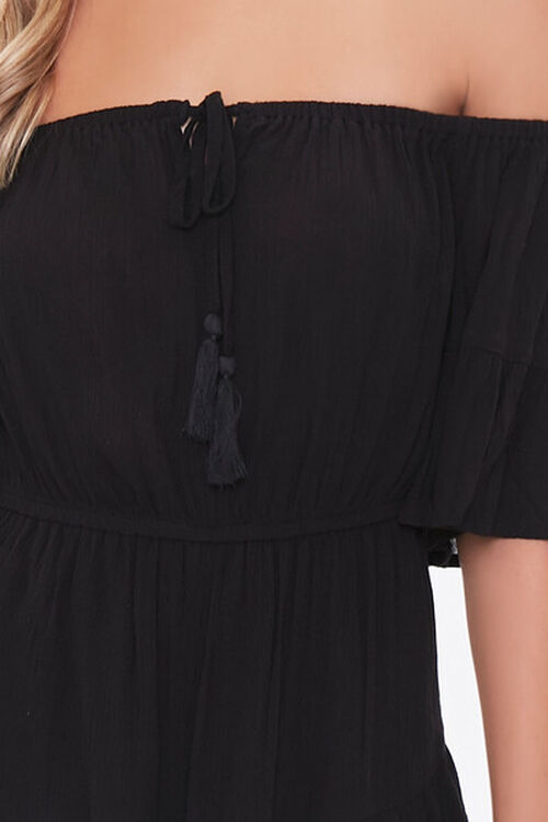 Off-the-Shoulder Ruffle Romper, image 5