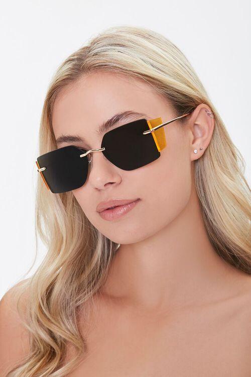 GOLD/BLACK Square Novelty Sunglasses, image 1