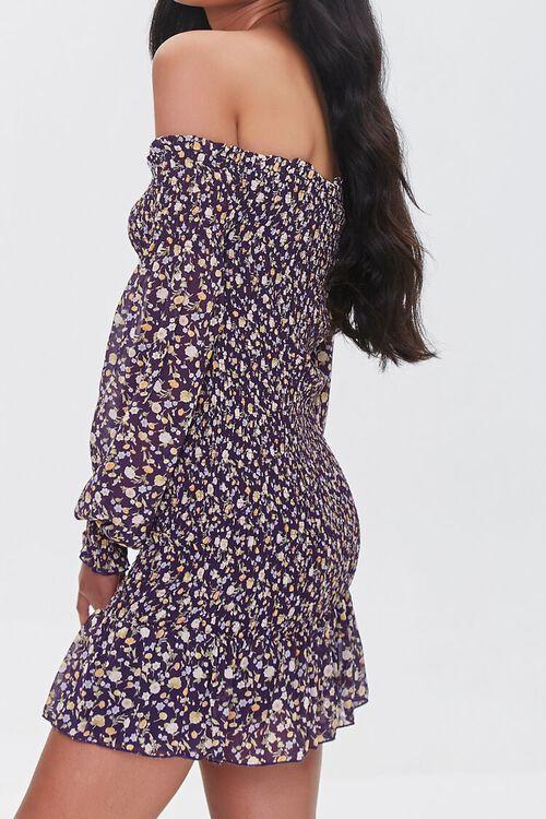 Floral Off-the-Shoulder Mini Dress, image 2