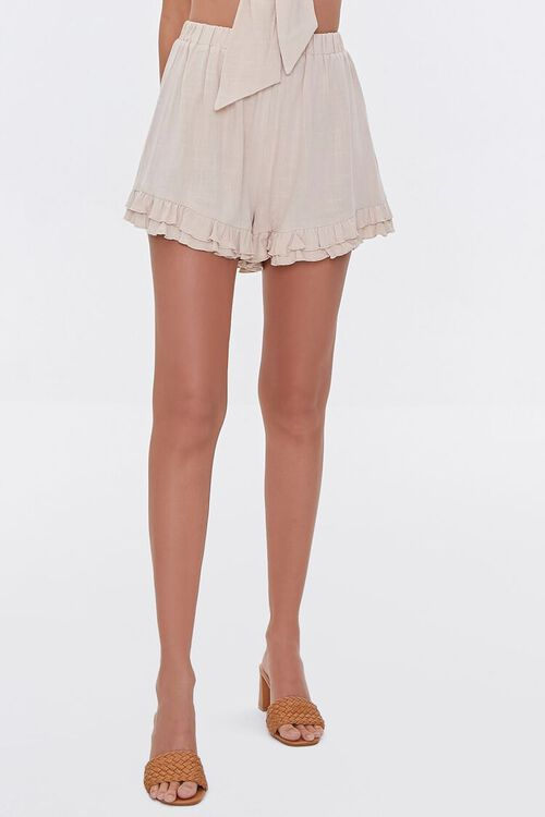 Knotted Cropped Cami & Ruffled Shorts Set, image 6