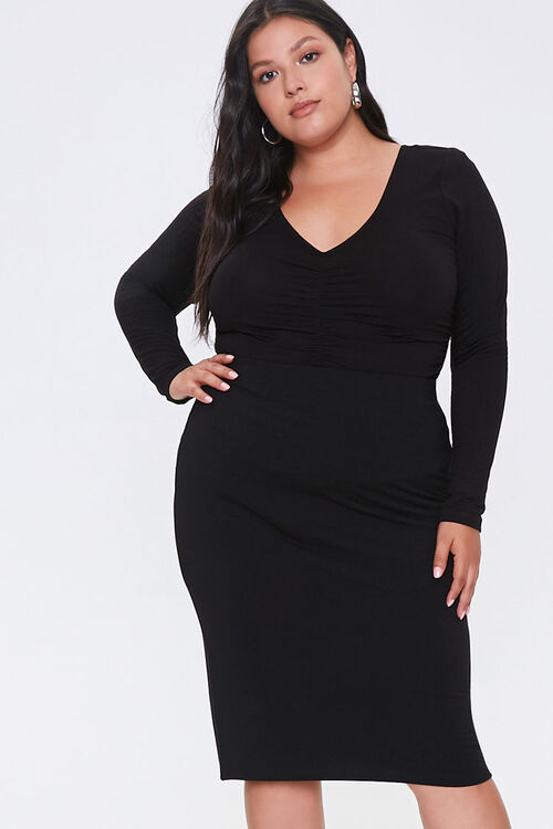 Plus Size High-Rise Skirt, image 1