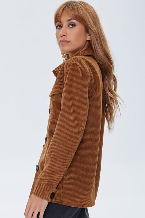 Corduroy Button-Front Shacket, image 2