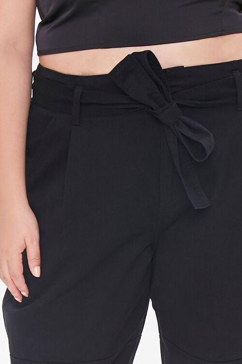 Plus Size Sash-Belt Cargo Pants, image 5