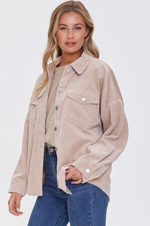 Corduroy Drop-Sleeve Shirt, image 1