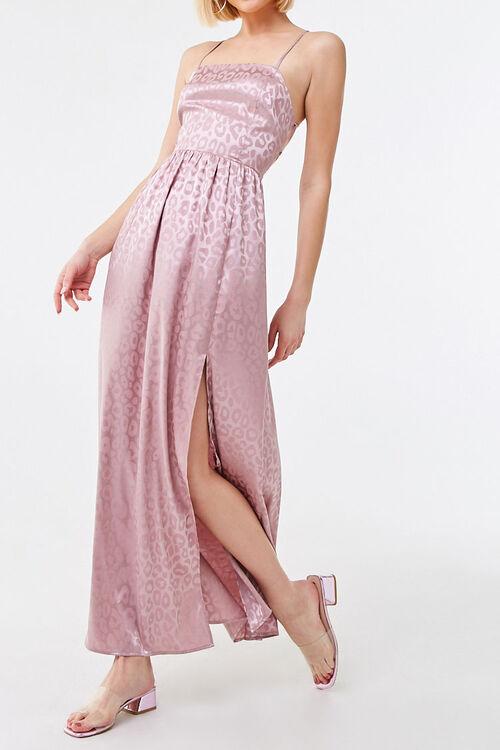 Shadow Leopard Print Maxi Dress, image 1