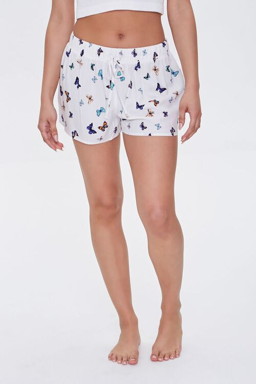 Butterfly Print Lounge Shorts, image 2