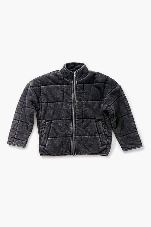 Girls Quilted Zip-Up Jacket (Kids), image 1