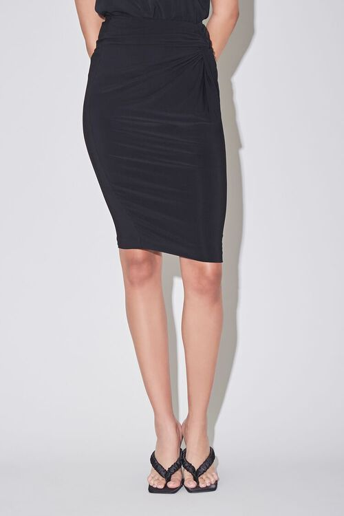 Knotted Pencil Skirt, image 2