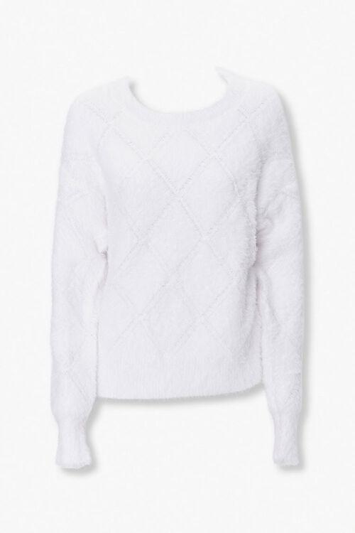 Fuzzy Diamond Pattern Sweater, image 1