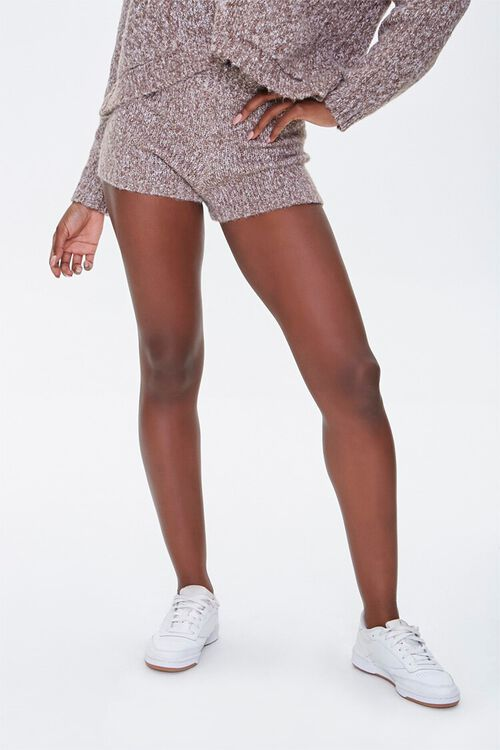 Marled Sweater-Knit Shorts, image 2