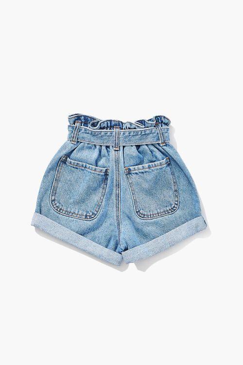 Girls Paperbag Denim Shorts (Kids), image 2