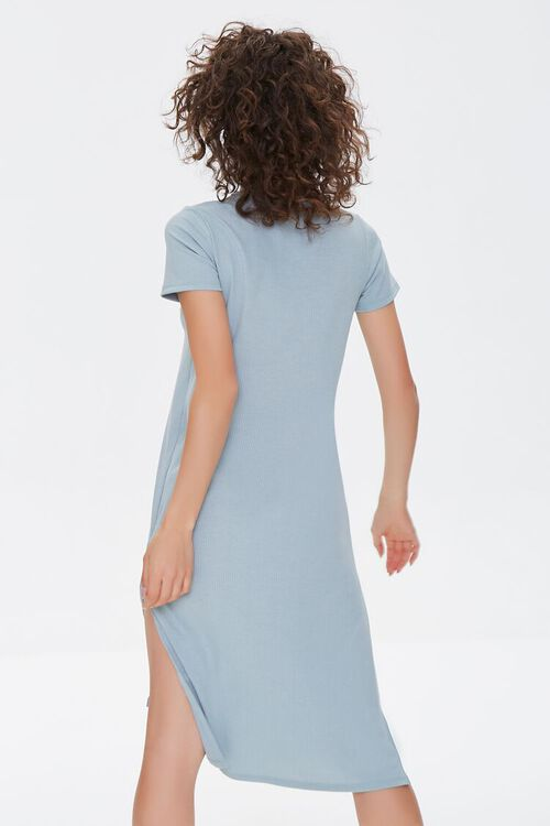 Recycled Leg-Slit T-Shirt Dress, image 3