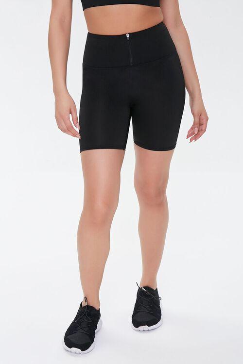 Active Zip-Front Biker Shorts, image 2
