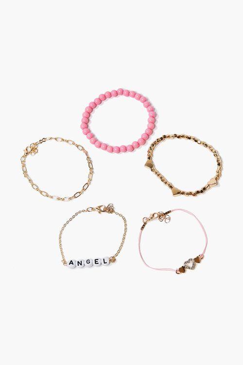 Angel & Heart Charm Bracelet Set, image 1