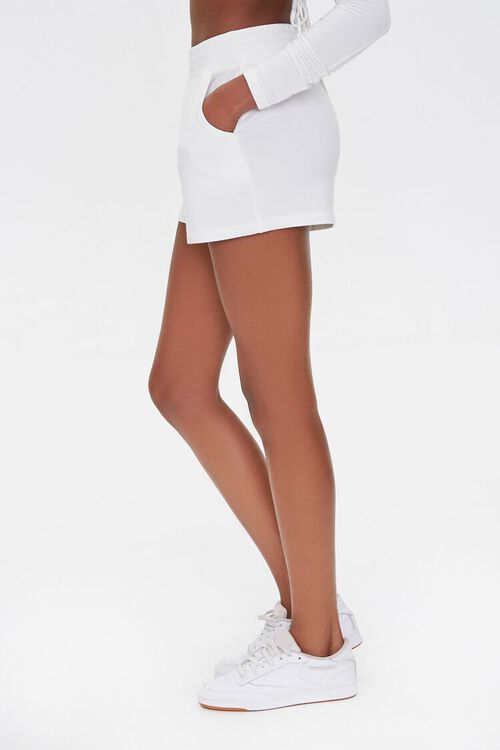 Smocked-Waist French Terry Shorts, image 3