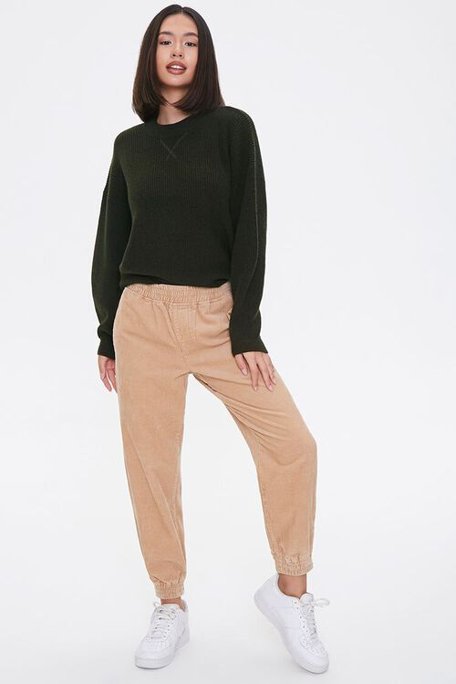 Ribbed Dropped-Sleeve Sweater, image 4
