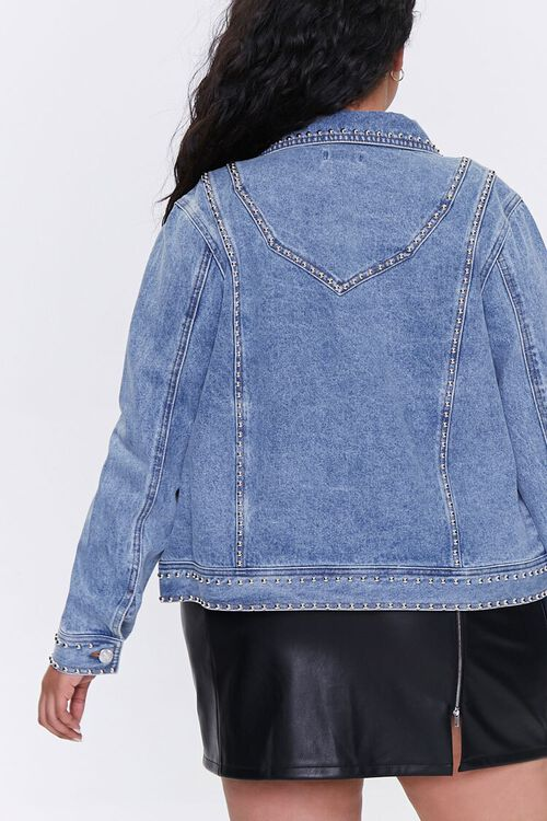 Plus Size Studded Denim Jacket, image 3