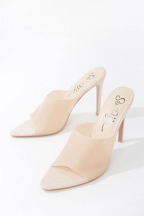 Faux Suede Vinyl Stiletto Heels, image 3