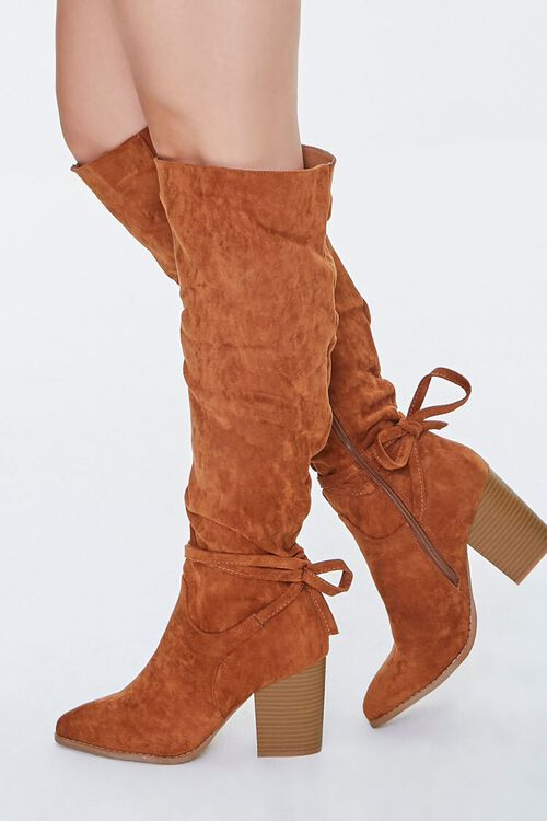Slouchy Knee-High Bow Boots, image 2