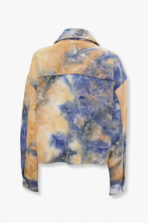 Tie-Dye Button-Front Jacket, image 3