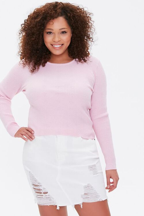 Plus Size Ribbed Sweater, image 1