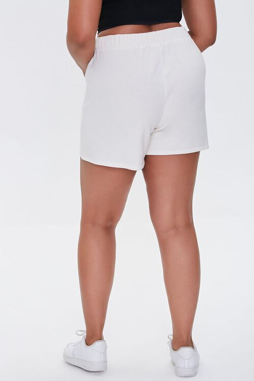 CREAM Plus Size Fleece Tie-Waist Shorts, image 4