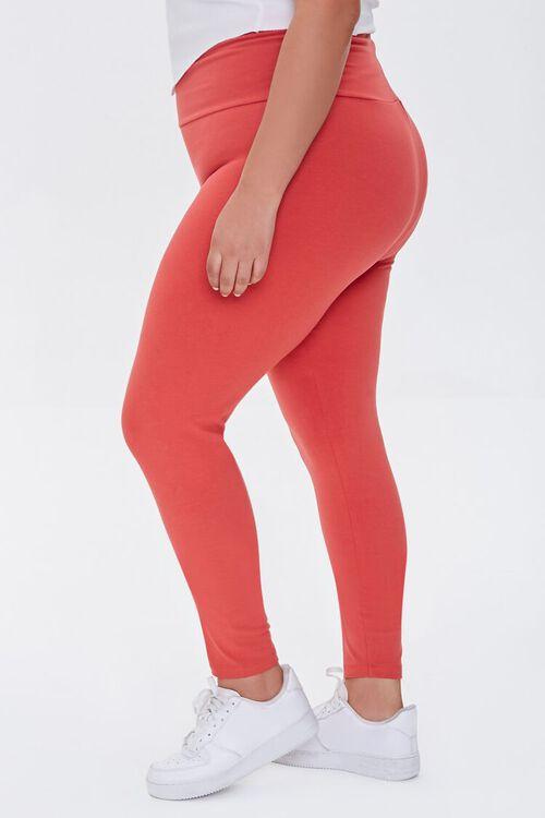 RED Plus Size Basic Organically Grown Cotton Leggings, image 3