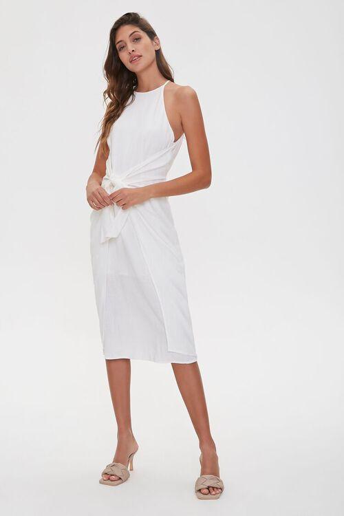 Tie-Front Plunge-Back Dress, image 5