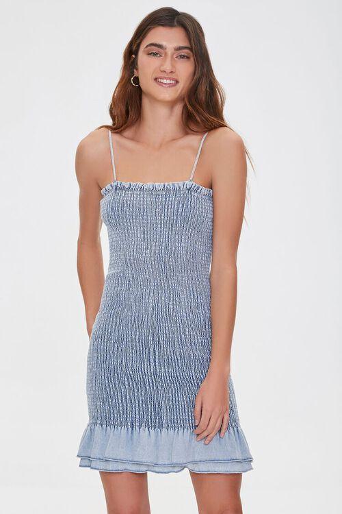 Smocked Bodycon Mini Dress, image 1