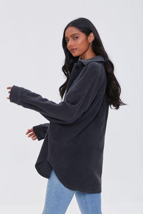 Reverse Cotton Fleece Shacket, image 2