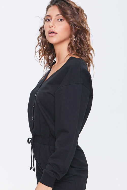 Buttoned Drop-Sleeve Romper, image 2