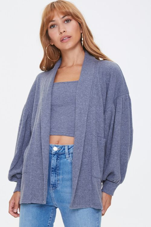Patch-Pocket Cardigan Sweater, image 1