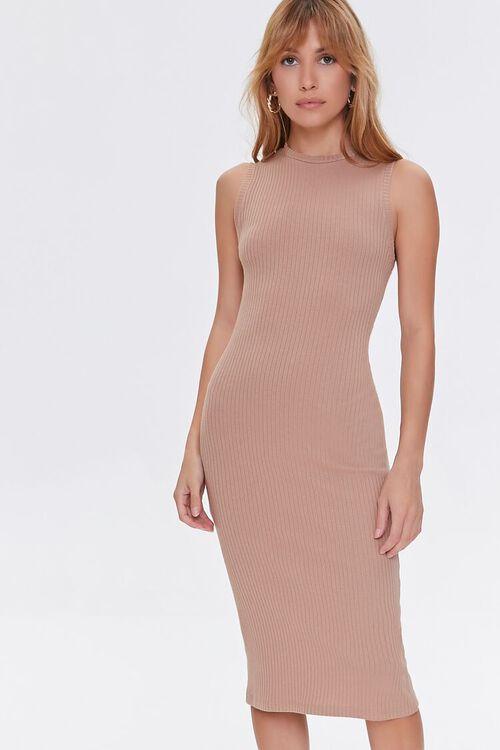 Ribbed Bodycon Midi Dress, image 4