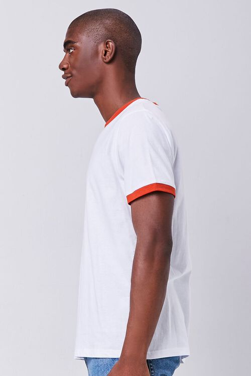 WHITE/RED Contrast-Trim Ringer Tee, image 2