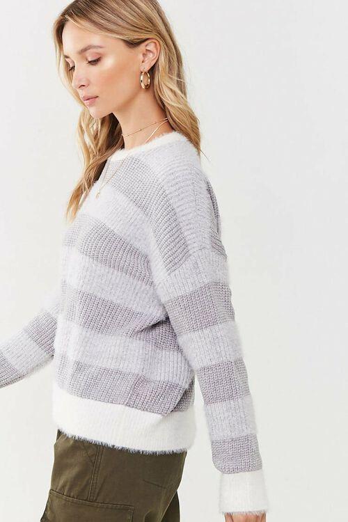 Fuzzy Striped Sweater, image 2