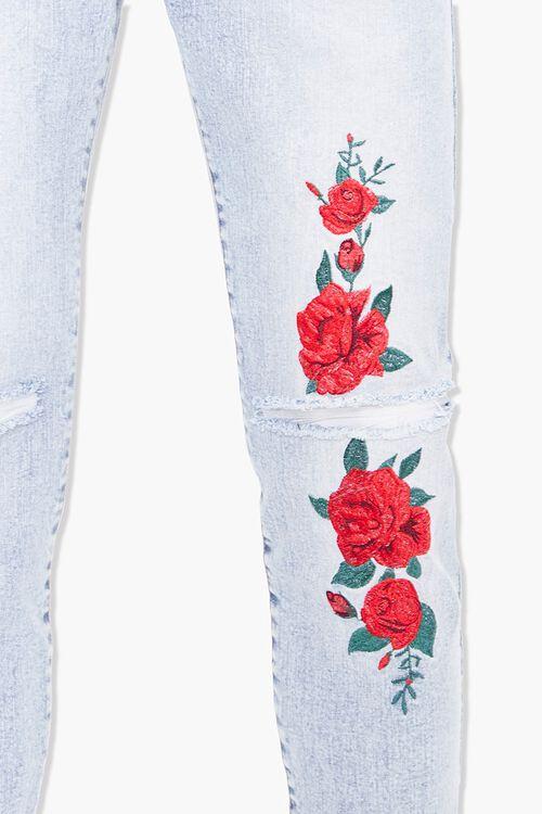 Floral Print Skinny Jeans, image 4