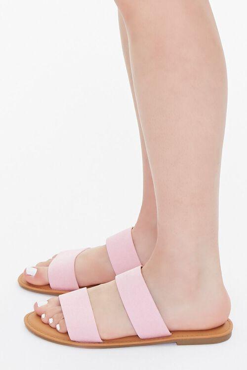 Faux Suede Dual-Strap Sandals, image 2