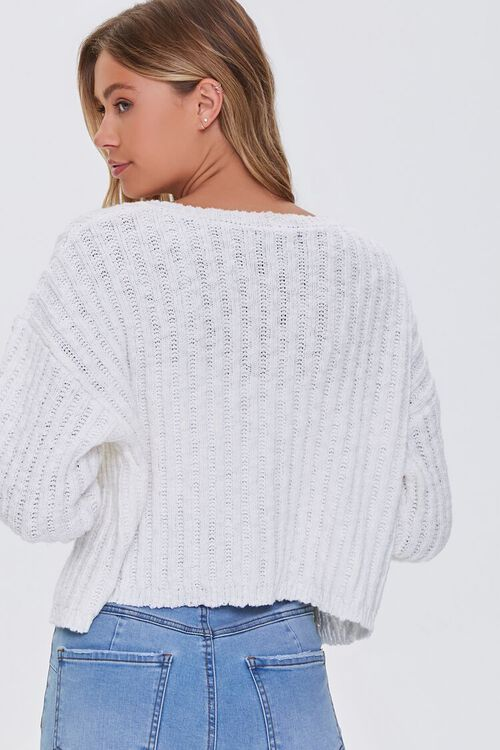 V-Neck Buttoned Cardigan Sweater, image 3
